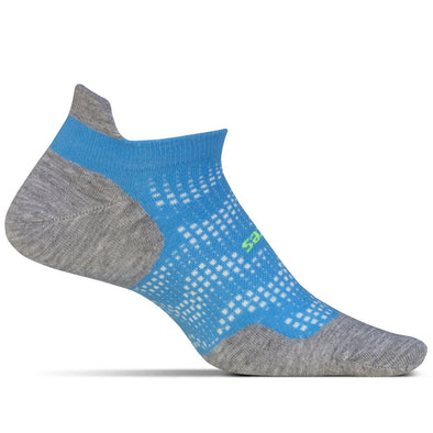 Feetures! FE-121618 Running Socks  High Performance Light Cushion  NST  Tropical Blue  L