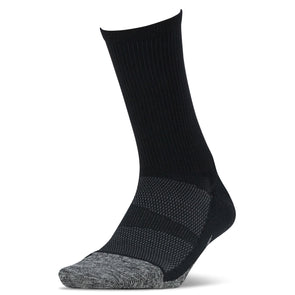 Feetures FE-122479 Elite  Light Cushion  Mini Crew  Black  XL