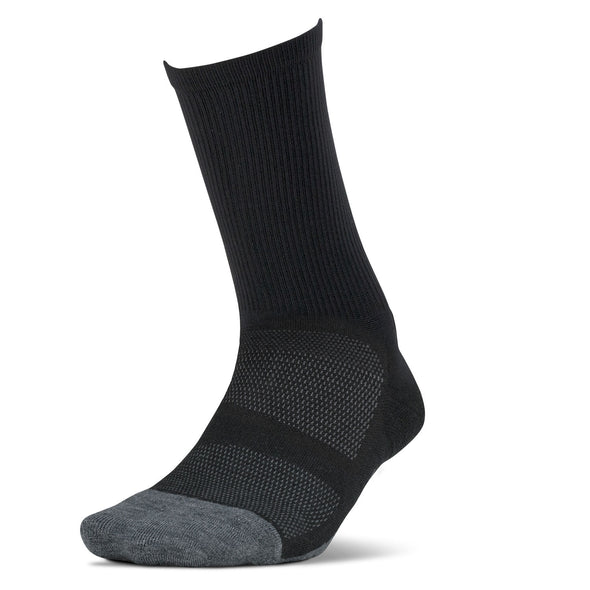 Feetures FE-123797 Feetures Merino 10  Cushion  Mini Crew  Charcoal  XL