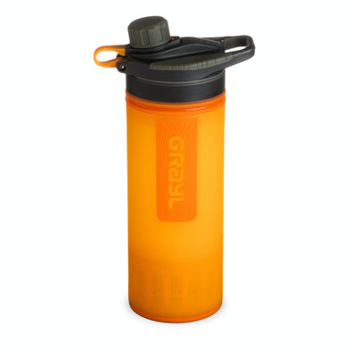 GRAYL GR-004539 Grayl GEOPRESS Water Purifier Bottle with Filter  Visibility Orange