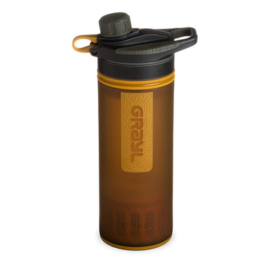 GRAYL GR-004546 Grayl GEOPRESS Water Purifier Bottle with Filter  Coyote Amber