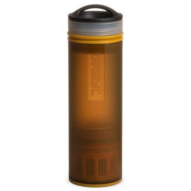 GRAYL GR-004881 Grayl Ultralight Compact Water Purifier Bottle with Filter  Coyote Amber