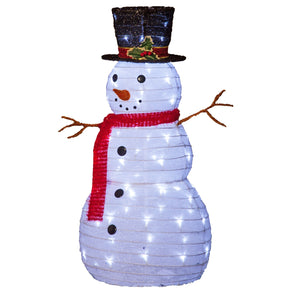 Noma 5617001 80 LED Fabric Collapsible Snowman  Timer  90cm