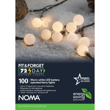 100 LED Berry Lights : Battery/Timer : Warm White
