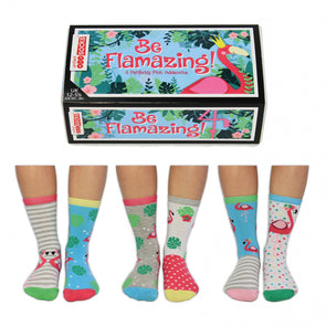 United Odd Socks BEFLAMAZING Be Flamazing Odd Socks  Junior Child Size UK 1255