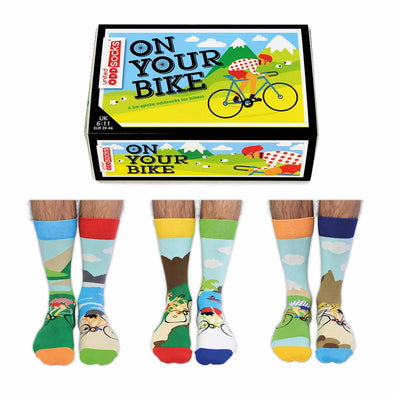 United Odd Socks CYCLE On Your Bike Odd Socks  Adult Size UK 611