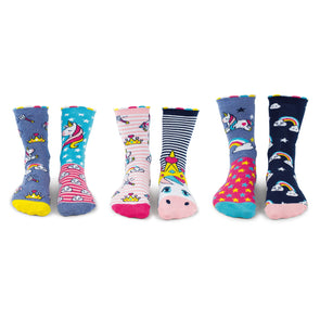 United Odd Socks DAZE Unicorn Daze Odd Socks  Junior Child Size UK 1255