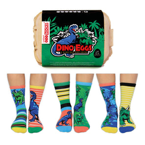 United Odd Socks DINO Dino Eggs Odd Socks  Junior Child Size UK 126