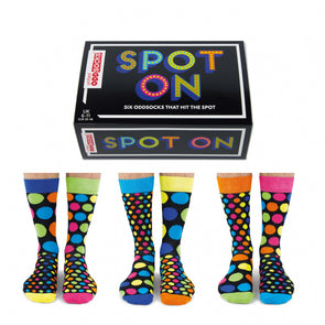 United Odd Socks DOTS Spot On Odd Socks  Adult Size UK 611
