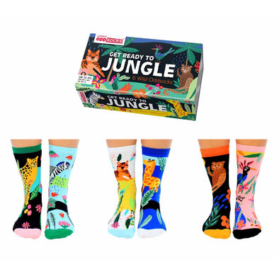 United Odd Socks JUNGLE Get Ready To Jungle Odd Socks  Junior Child Size UK 1255