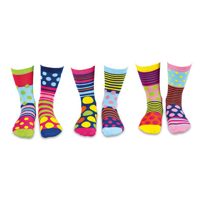 United Odd Socks POLKA Polka Face Odd Socks  Adult Size UK 48