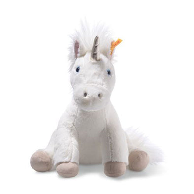 Steiff 087769 Steiff Soft Cuddly Friends Floppy Unica Unicorn  White  Gold  35cm