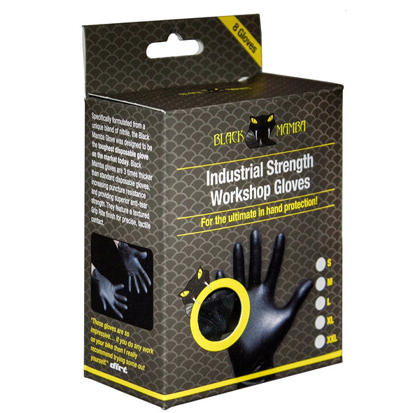 Black Mamba BM-70005 Black Mamba Nitrile Workshop Gloves  Box of 8  XXL