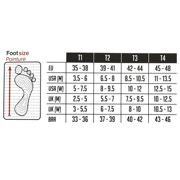 Size Guide for Compressport CS-27001