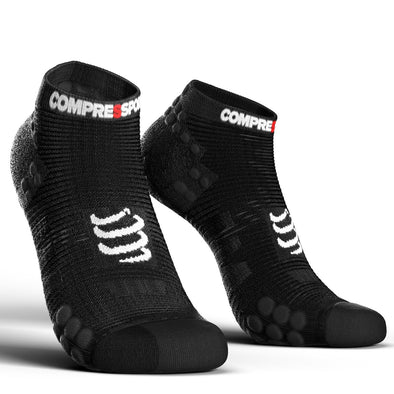 Compressport CS-27028 Compressport Pro Racing Socks V30 RUN Low Cut Smart Black  T4