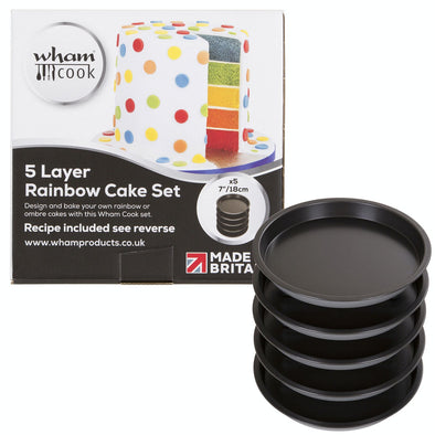 Wham 51500 5 Layer Rainbow Cake Set  18cm