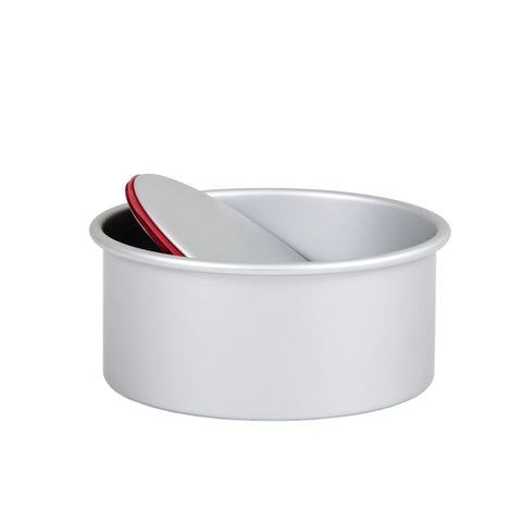 Wham 53140 Deep LeakProof Loose Based Round Cake Tin  Silver Anodised Aluminium  10cm x 18cm