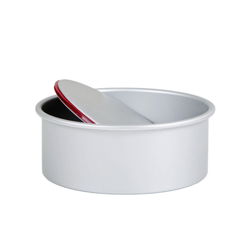 Wham 53180 Deep LeakProof Loose Based Round Cake Tin  Silver Anodised Aluminium  10cm x 20cm