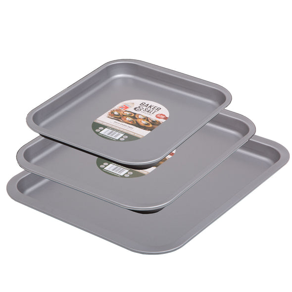 Baker & Salt 55630 55640 55650 Baker  Salt Set Of 3 Nesting NonStick Oven Trays