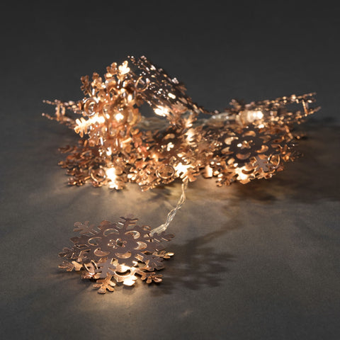 10 LED Copper Flower Lights : Battery