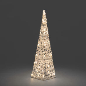 Acrylic Light Up Pyramid : 32 Warm White LEDs : 60cm