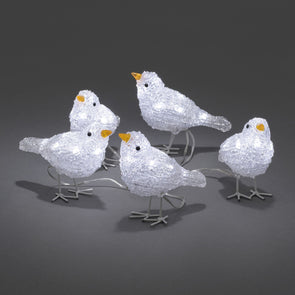 Konstsmide 40 LED Acrylic Birds : Plug In : Flock of 5