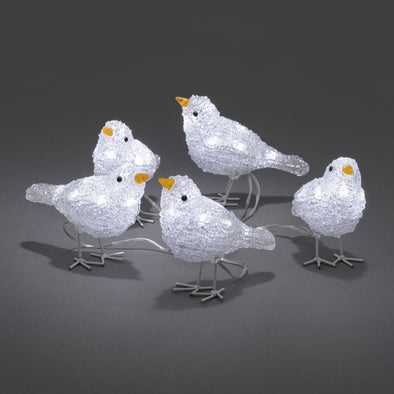 40 LED Acrylic Birds : Flock of 5
