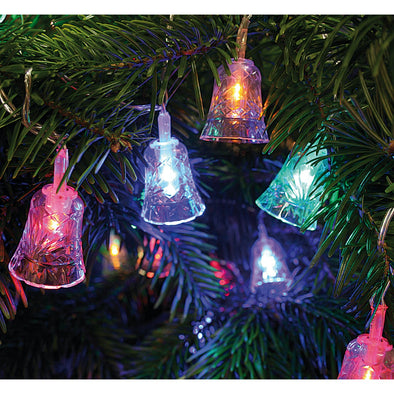 Acrylic Bell Multicoloured Light String : Plug In : 24 LED