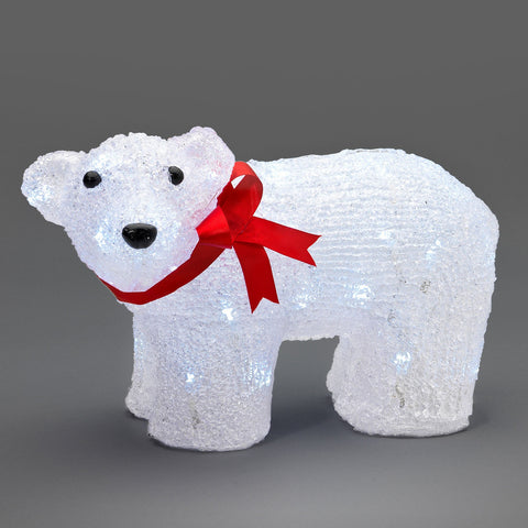 40 LED Standing Polar Bear : 32cm