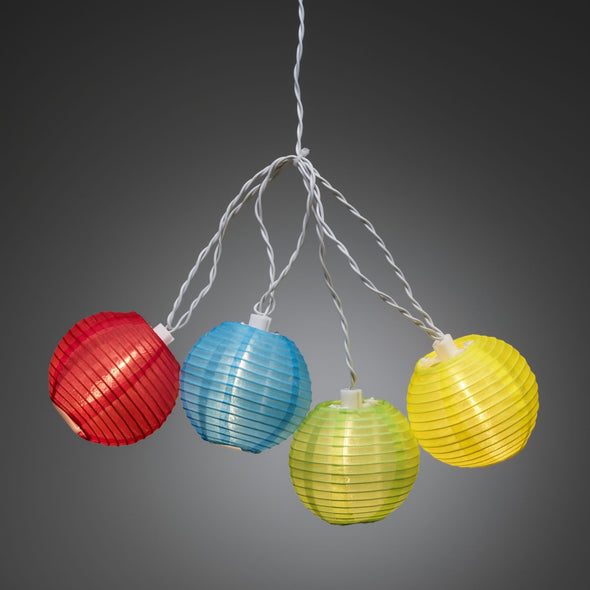 LED Party Light String : Coloured Fabric Balls