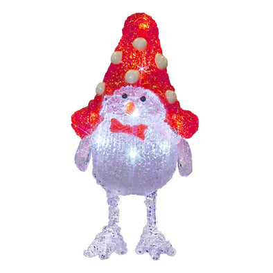 10 LED Acrylic Snow Robin : Battery/Timer