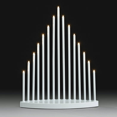 White Candlestick With 15 Warm White LEDs