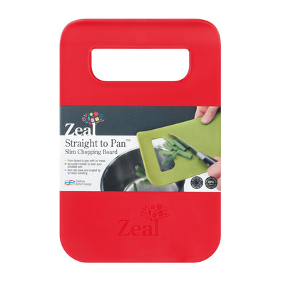 Zeal L202R Zeal Slim Chopping Boards  Small  Red