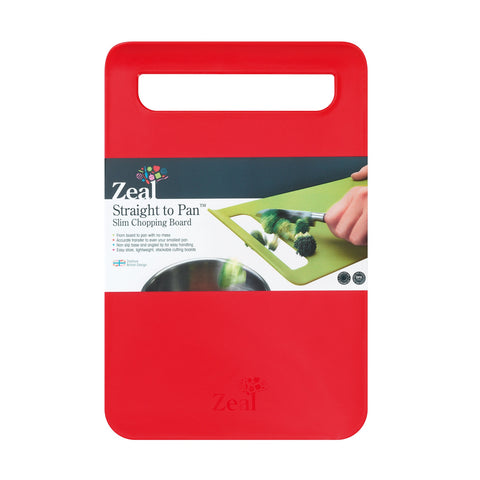 Zeal L203R Zeal Slim Chopping Boards  Large  Red
