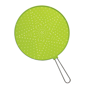 Zeal M119L Large Silicone Splatter Guard With Stainless Steel Handle  32cm  Lime Green