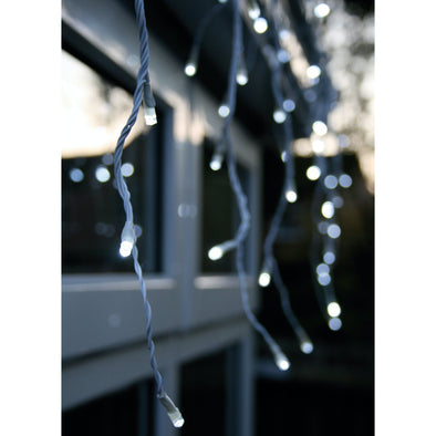 Noma 2515083WW Snowing Icicle Lights  Timer  Bright White  720 LED