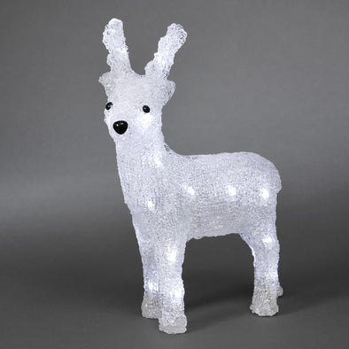 24 LED Acrylic Light Up Reindeer : Battery