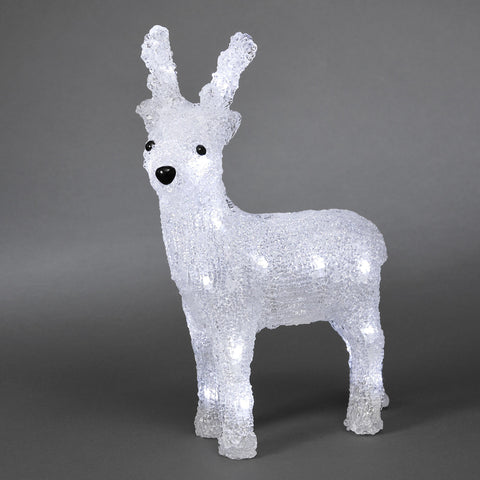 24 LED Acrylic Reindeer : Battery