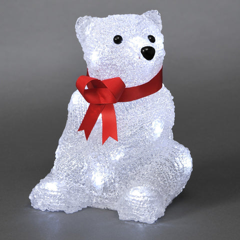 16 LED Acrylic Polar Bear : Battery