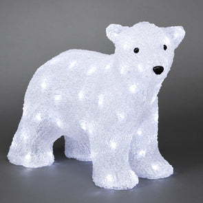 64 LED Standing Polar Bear Cub : 41cm