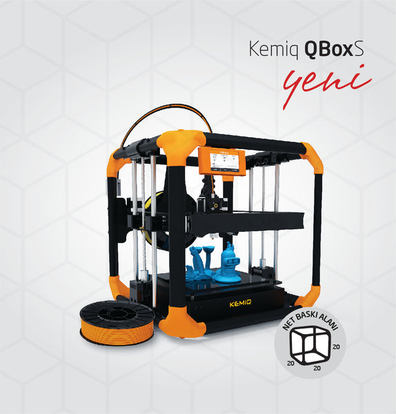 """KEMIQ Q-BOX-S"" 3D PRINTER 20cm/20cm/20cm"