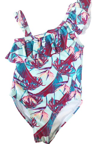 Birds of Paradise Girls One Piece Swimsuit