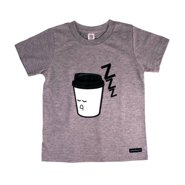 Sleepy Coffee T-Shirt by Squirrel Story, Squirrel Story - 1