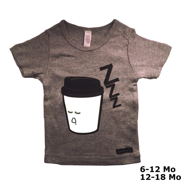 Sleepy Coffee T-Shirt by Squirrel Story, Squirrel Story - 4