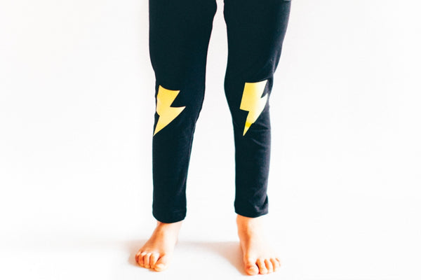 Lightning Bolt Leggings by Whistle & Flute, Squirrel Story - 2