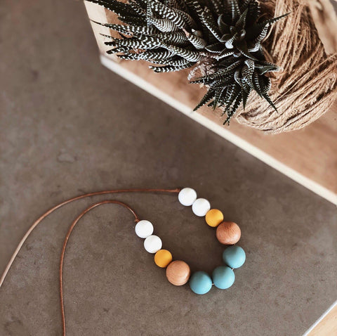 Havana Chew Necklace - Teal