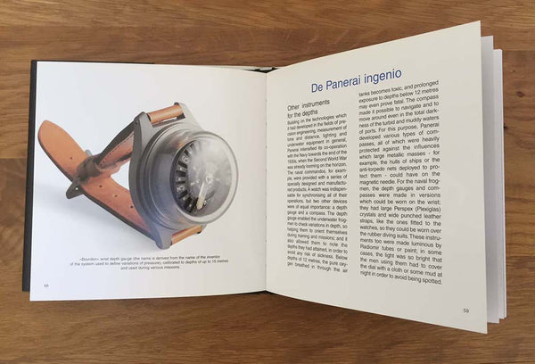 Officine Panerai - Panerai Historia - From the depths of the sea hardback by Giampiero Negretti