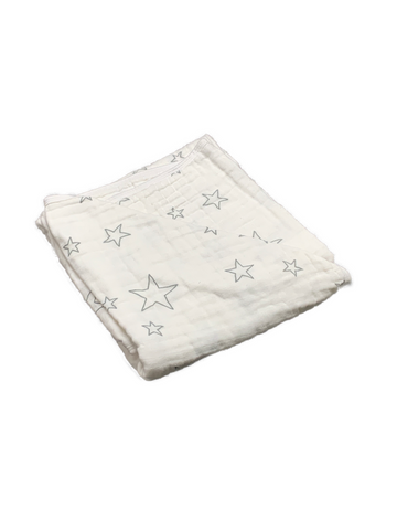 Mini Blanket - stars grey