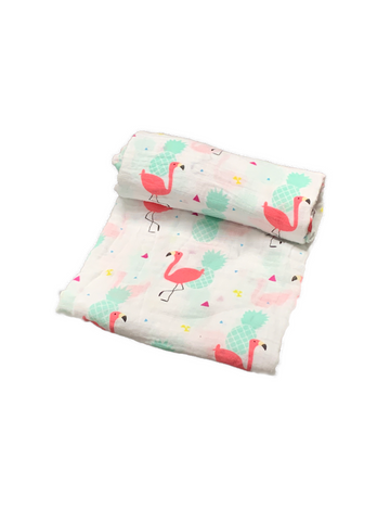 Mini Swaddle - flamingo