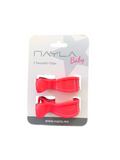 2er Clips - neon pink